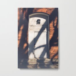 Light and Shadow, In the Door series, from my street photography collection Metal Print