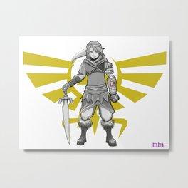 Legend of Zelda - a new Link Metal Print
