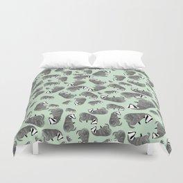 Adorable Badger ( Meles meles ) Duvet Cover
