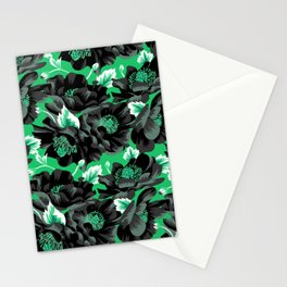 Mount Cook Lily - Green/Black Stationery Cards