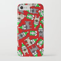 pugs iPhone & iPod Cases featuring Merry Pugs by robyriker