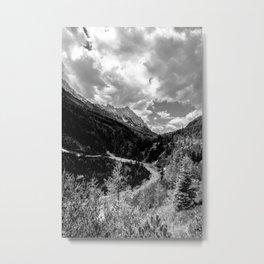 Mountain Track Metal Print