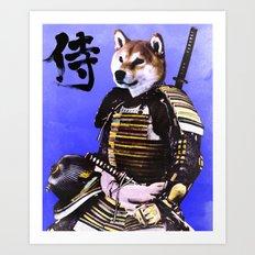 Shiba Inu Samurai Art Print