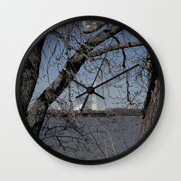 Through the Branches Wall Clock