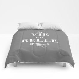 La Vie est Belle Storm White Comforters