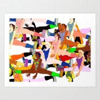 yoga Art Prints featuring Yoga by Jonny Negron