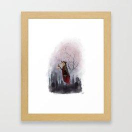 Candlelit Gravekeeper Framed Art Print