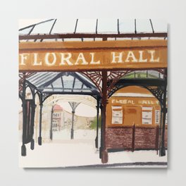 FLORAL HALL Metal Print
