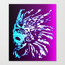 BRANDED APPAREL SKELTON CHIEF11 Canvas Print