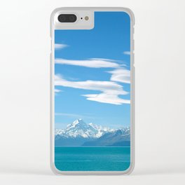 Mount Cook Cloudscape Clear iPhone Case