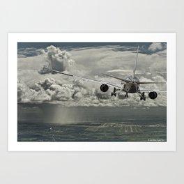 Stormy approach Art Print