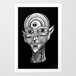 Transcend your being Art Print