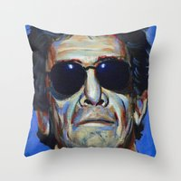 lou reed Throw Pillows featuring Lou Reed by Buffalo Bonker