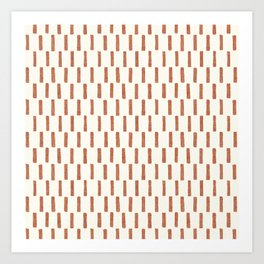 block print dash - terra cotta Art Print