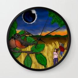 Solar Eclipse Dream Wall Clock