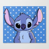 lilo and stitch Canvas Prints featuring Lilo and Stitch - Stitch by Julia Kolos