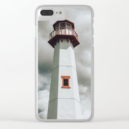 The Lighthouse in Saint Ignace Clear iPhone Case