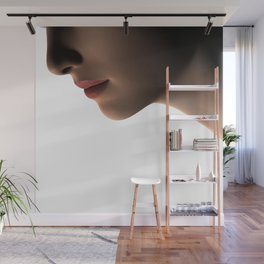 Low Key Lips and Neck Close Up Wall Mural