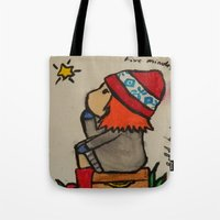 amy pond Tote Bags featuring Young Amy Pond by Beth Anderson