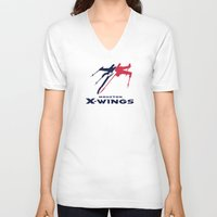 nfl V-neck T-shirts featuring Houston X-wings - NFL by Steven Klock