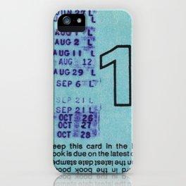 Ilium Public Library Card No. 1 iPhone Case