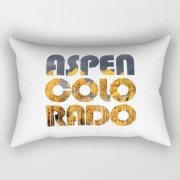 ASPEN COLORADO and Aspen Trees Rectangular Pillow