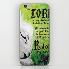 The Lord Restores Psalm 23 iPhone & iPod Skin