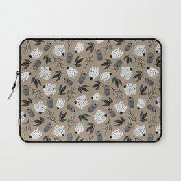 Vintage Beetle Floral Pattern Laptop Sleeve
