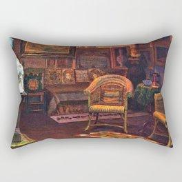 Studio Interior by Kristian Zahrtmann Rectangular Pillow