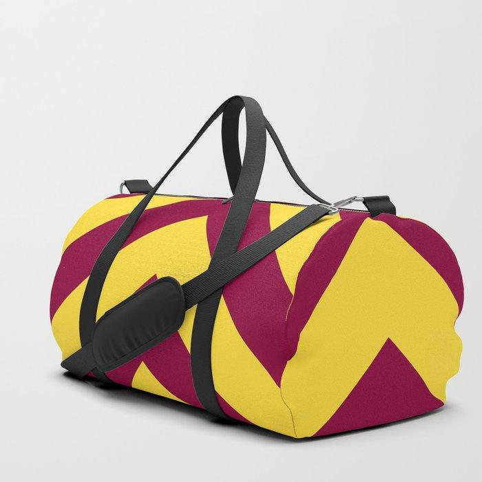 Sunnydale High Chevron (Maroon & Gold - #8A0034 x #FFDC32) Duffle Bag