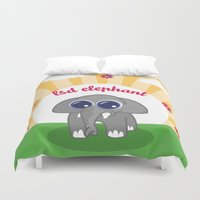 lsd Duvet Covers featuring LSD Elephant by flydesign