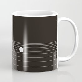 Calm water Lake Moon Minimal Coffee Mug