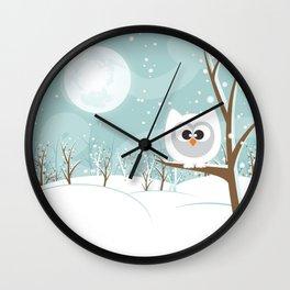 Arctic Owl Wall Clock
