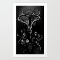Nature, Skulls, and Mares of the Night Art Print