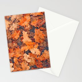 Autumnal leaves watercolor painting #4 Stationery Cards