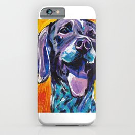 fun GSP German Shorthaired Pointer bright colorful Pop Art painting by Lea iPhone Case
