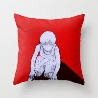 dexter Throw Pillows featuring Dexter by MRCRMB
