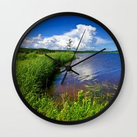 beaver Wall Clocks featuring Beaver Brook by Nicolas Raymond