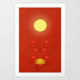 Crimson Typhoon Art Print