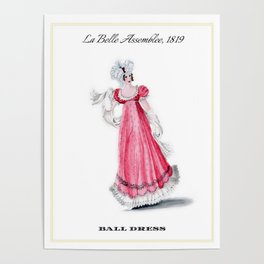 Fashion Plate 1819, Regency England Poster