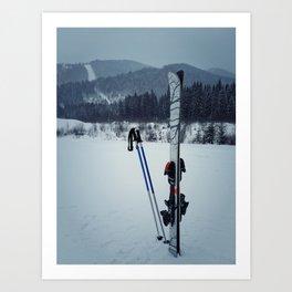 ski equipment Art Print