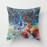 splatter Throw Pillows featuring Splatter by Stephen Linhart