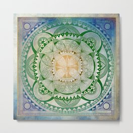 Metta Mandala, Loving Kindness Meditation Metal Print