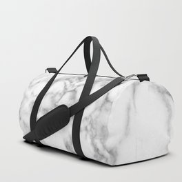 White Marble 003 Duffle Bag