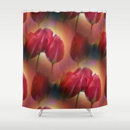 watercolored tulip pattern Shower Curtain
