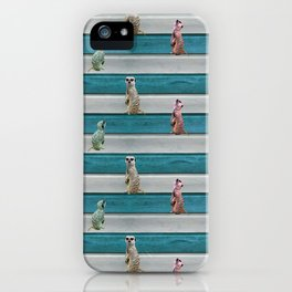 Meercat Beach Stripes iPhone Case