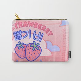 Strawberry Rain Carry-All Pouch