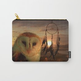 Dream Catcher and Magic Owl Carry-All Pouch