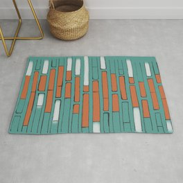 Brick By Orange Brick Rug
