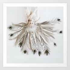 Peacock girl Art Print